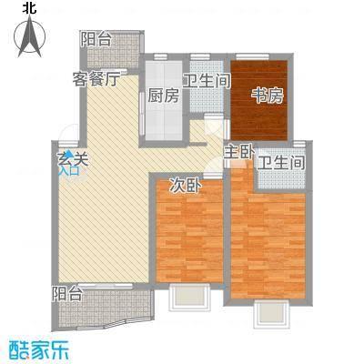 瑞景苑113.48㎡A户型3室2厅2卫1厨