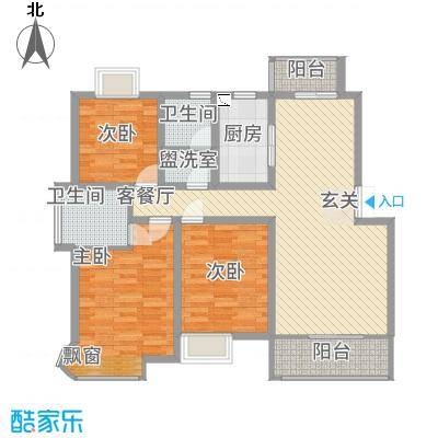 京东小区F区131.00㎡户型3室