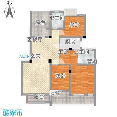 百大春城137.00㎡户型3室