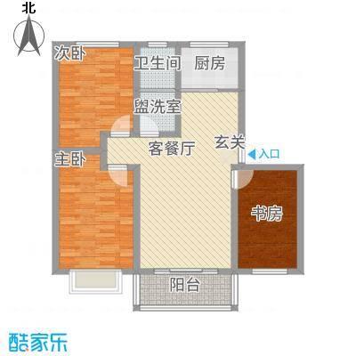平安先河东苑11.20㎡A户型3室2厅1卫1厨