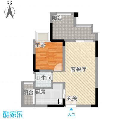双福时代广场26.20㎡启辰2号楼B6B7户型