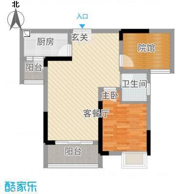 双福时代广场26.51㎡启辰2号楼B2户型