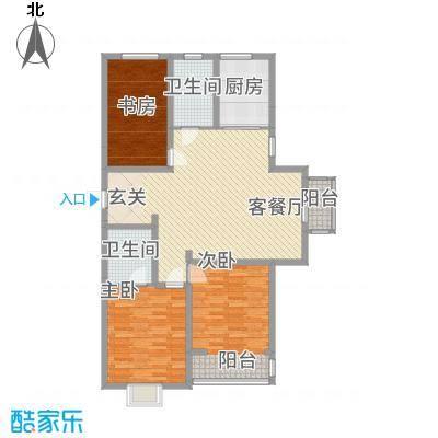御湖国际3138.62㎡9号楼A-3-01户型3室2厅2卫1厨