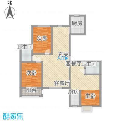 御湖国际1148.23㎡9号楼B-1C-1-01户型3室2厅2卫1厨