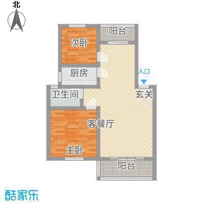 姜水龙湾二期226.72㎡B户型2室2厅1卫1厨