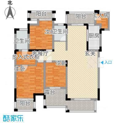 万硕・江城一品12.55㎡户型4室2厅2卫