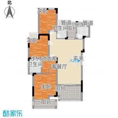 万硕・江城一品117.20㎡户型3室2厅2卫
