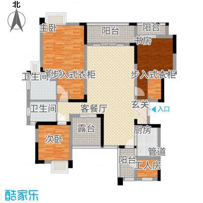万硕・江城一品13.22㎡户型4室2厅2卫
