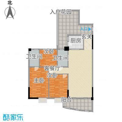 金泰瑞和园141.12㎡E栋一单元01、二单元02号房3室户型3室2厅2卫1厨