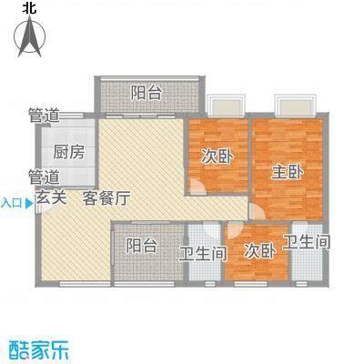 金泰瑞和园121.42㎡G栋一单元03、二单元06号房3室户型3室2厅1卫1厨