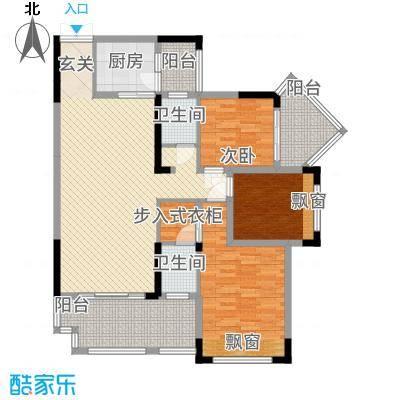 花滩国际新城丁香郡12.00㎡高层C37、8号楼3/4号房户型3室2厅2卫1厨