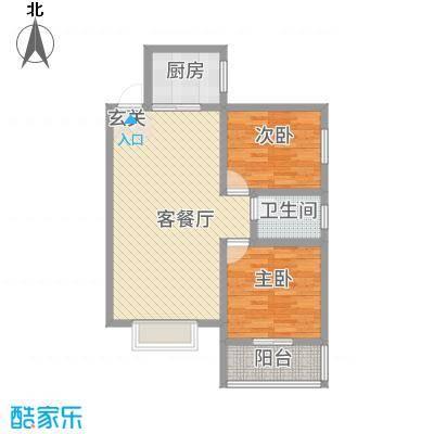 平安先河东苑5.20㎡B户型2室2厅1卫1厨