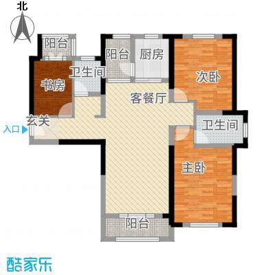 航宇・长江国际127.56㎡单页户型