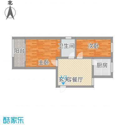 翰林苑2217676.25㎡户型2室2厅1卫1厨