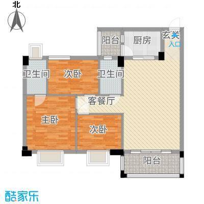 帝景豪庭111.00㎡9座尊意户型