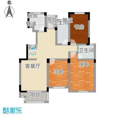 奥体中心公寓户型3室2厅2卫1厨