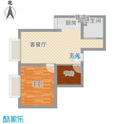 春城财富中心65.00㎡春城财富户型2室