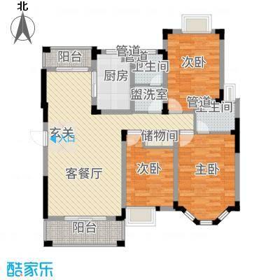中旅蓝岸国际13.00㎡小高层标准层户型3室2厅2卫1厨