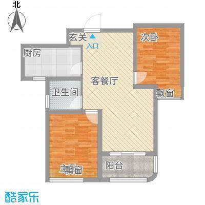 海信慧园5.00㎡户型2室