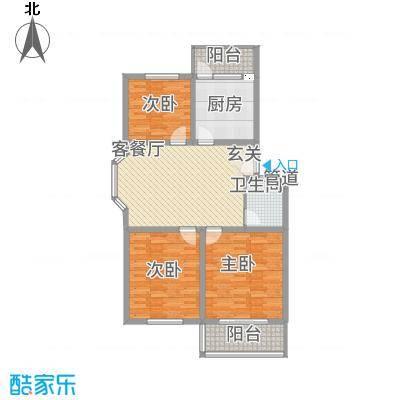 龙凤佳园2.15㎡户型3室