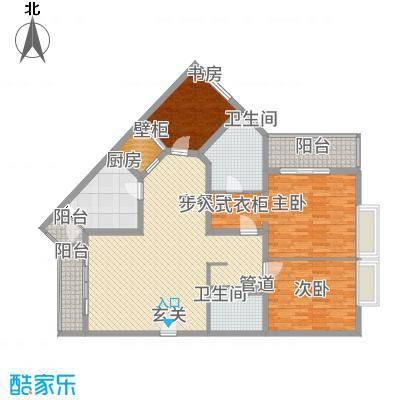 紫薇城市花园15.00㎡户型3室