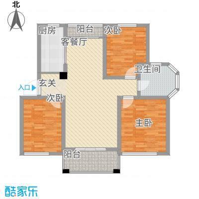 天徽商业广场户型3室