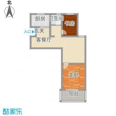 天徽商业广场85.67㎡3#、4#A户型2室2厅1卫1厨