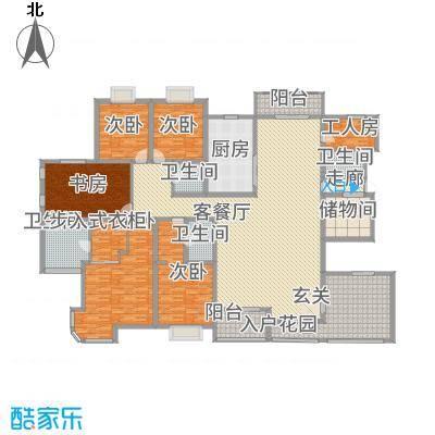天徽商业广场345.81㎡E户型5室2厅4卫1厨