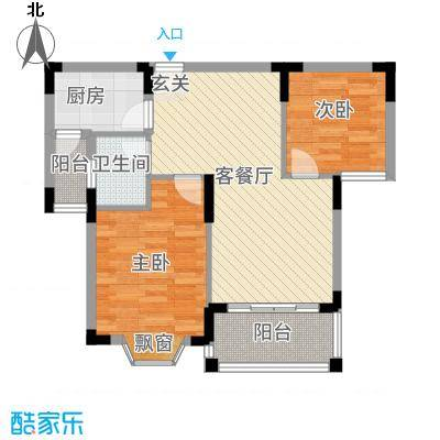 和平银座户型2室