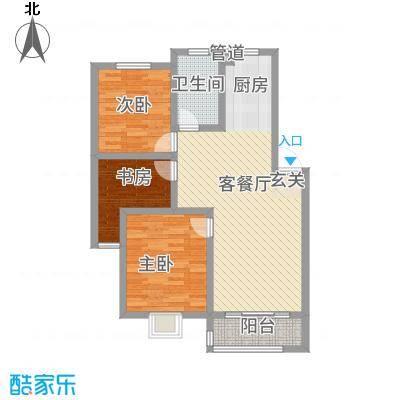 广枫名苑13.40㎡C户型3室2厅1卫1厨