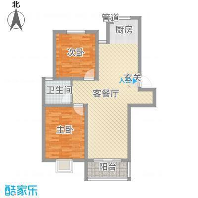 广枫名苑6.80㎡B户型2室1厅1卫1厨