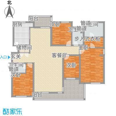 星屿仁恒2#D户型2室4厅3卫1厨