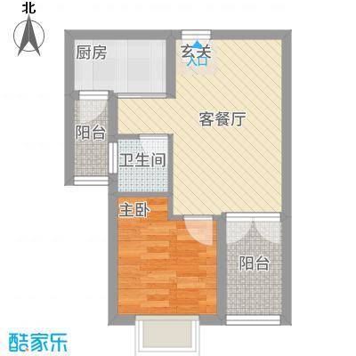 萨菲尔名邸户型1室