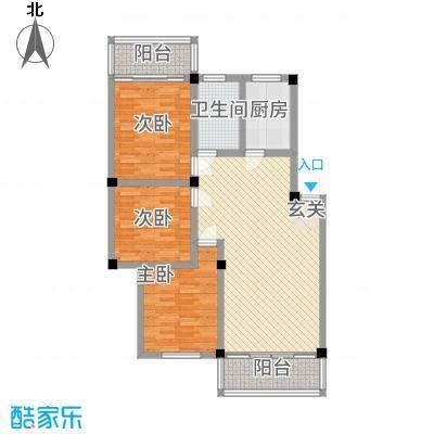 春馨苑户型3室2厅1卫1厨
