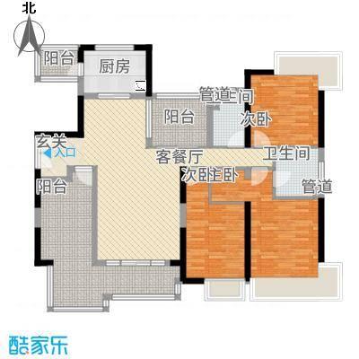 中海文华熙岸168.00㎡户型4室