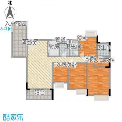 勒水名筑户型4室