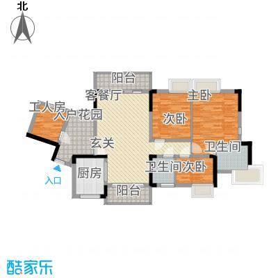 勒水名筑127.74㎡6栋2梯3-10层01户型3室2厅2卫1厨