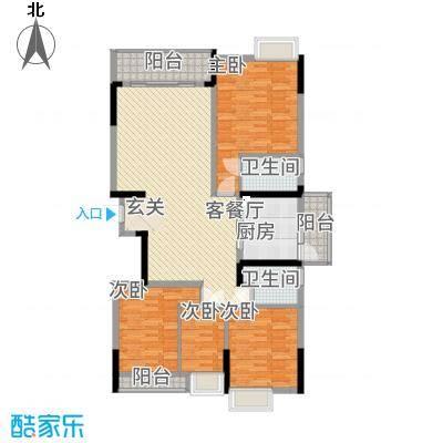 勒水名筑146.67㎡4和5栋3-10层03户型3室2厅2卫2厨