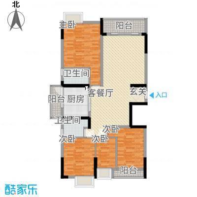勒水名筑147.34㎡4和5栋3-10层01户型4室2厅2卫1厨