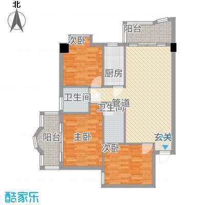 荣庆大厦户型3室2厅1卫1厨