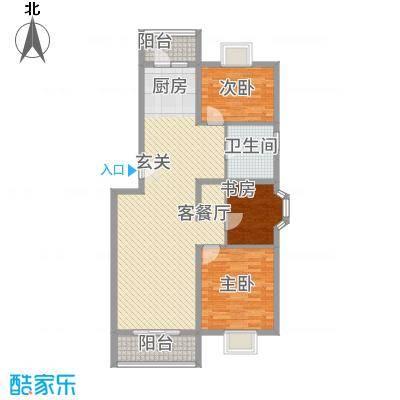 水榭华庭1.25㎡户型3室