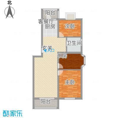 水榭华庭户型3室