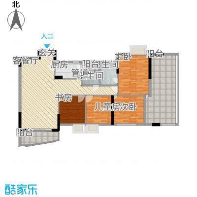 汇景豪庭136.70㎡汇景豪庭4室2厅户型4室2厅-副本