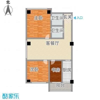 浙江大厦154.63㎡公寓9#户型3室2厅2卫1厨