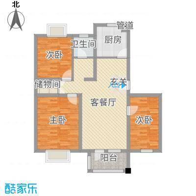 快乐之城户型3室