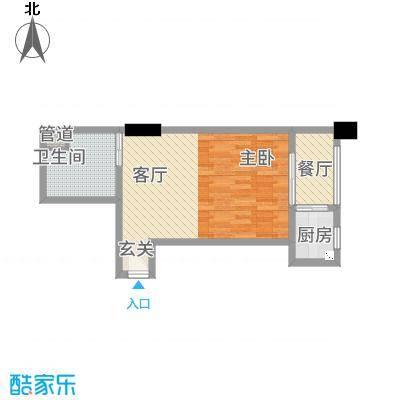 快乐之城42.00㎡户型1室