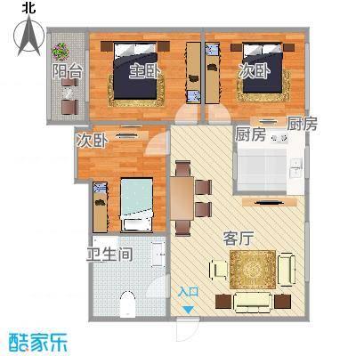 3室2厅103平