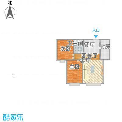 香缇苑86.29㎡效果图-轻舟装饰-副本
