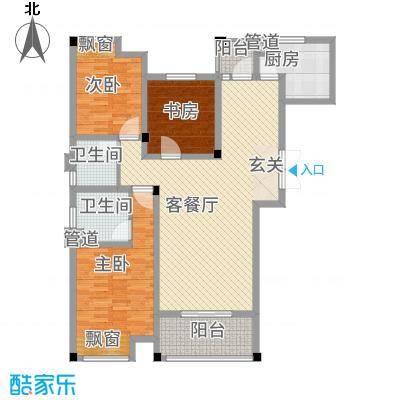 徐州云龙万达广场142.00㎡C户型3室2厅2卫-副本