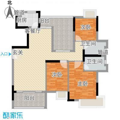三水奥林匹克花园142.00㎡6栋01单元户型4室2厅2卫1厨